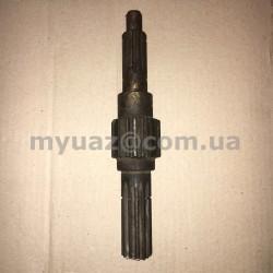 Вал вторичный КПП УАЗ 452,469(31512,-14,-19) (ст. обр.)