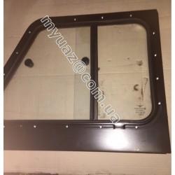 Надставка двери задн.прав.УАЗ-31514,-19(мет.крыша,раздв.стекла) в сб. со стеклом (пр-во УАЗ)