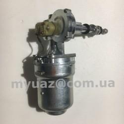 Стеклоочиститель(моторчик стеклоочистителя )УАЗ 469 ст. обр. (верхнее расположение) в сборе (мотор+редуктор)